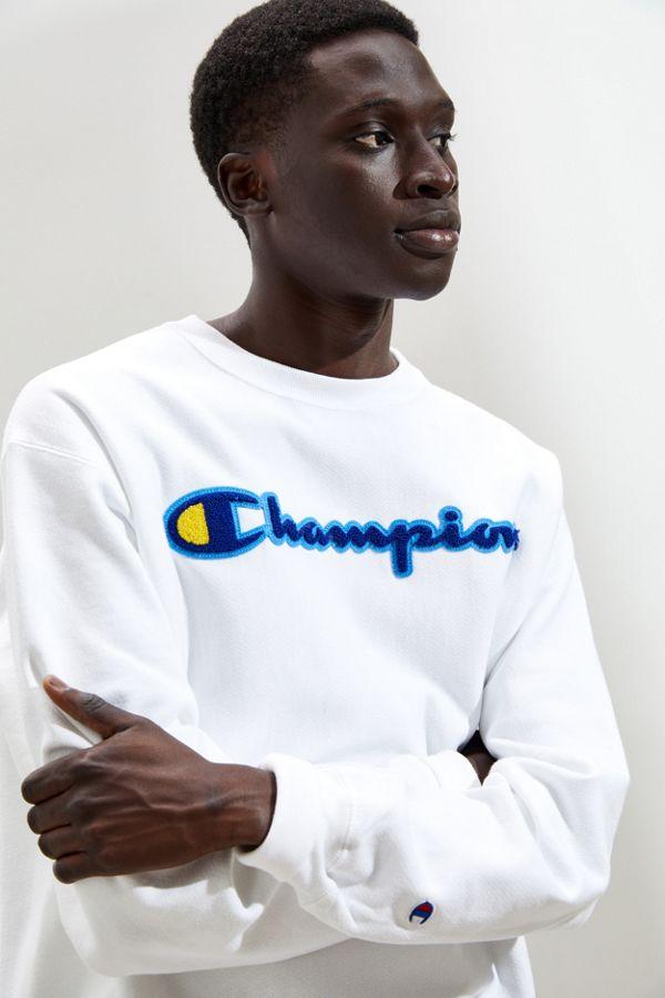 969820cb469a Champion Reverse Weave Chain Stitch Script Crew Neck Sweatshirt ...