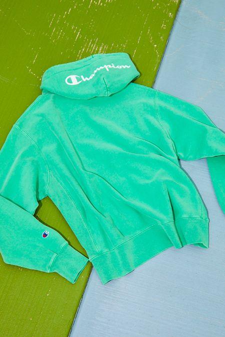 cef2b8327 Extended Sizes Available. Champion Garment Dye Reverse Weave Hoodie  Sweatshirt