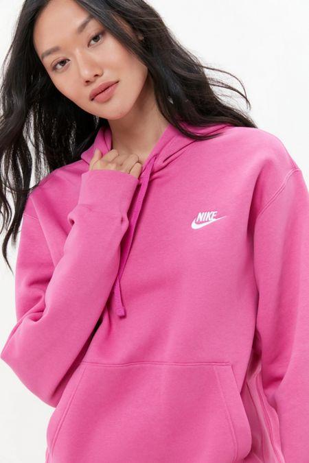 pink nike hoodie dress