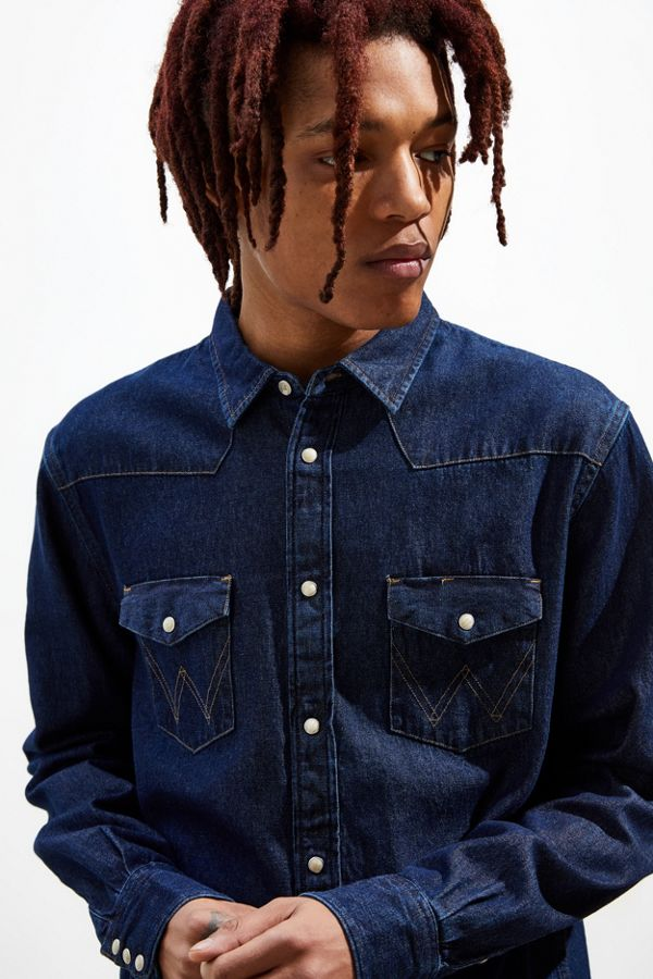 eef3a29b2f Wrangler Icons Rigid Denim Western Button-Down Shirt | Urban Outfitters
