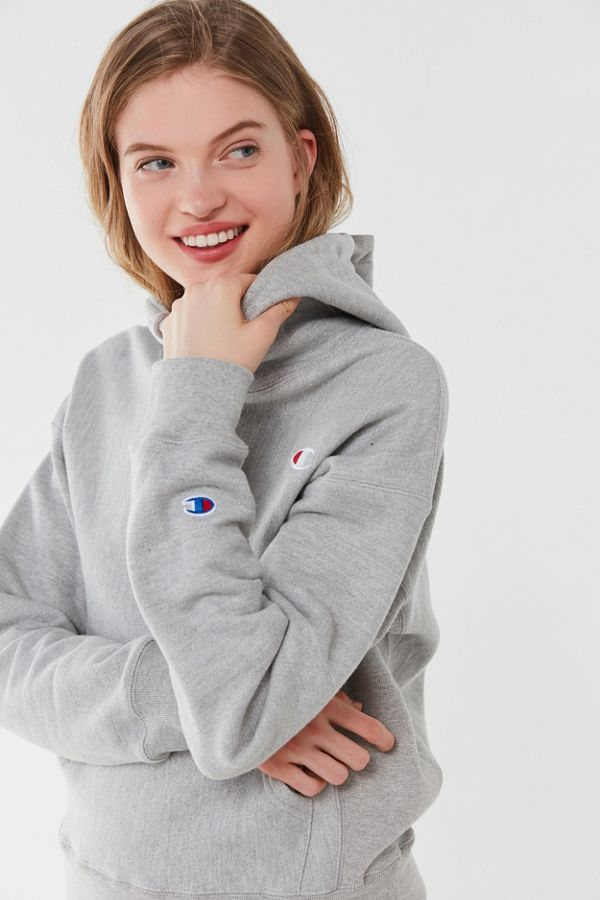 a2f5a9b1 Champion Reverse Weave Logo Patch Hoodie Sweatshirt | Urban Outfitters