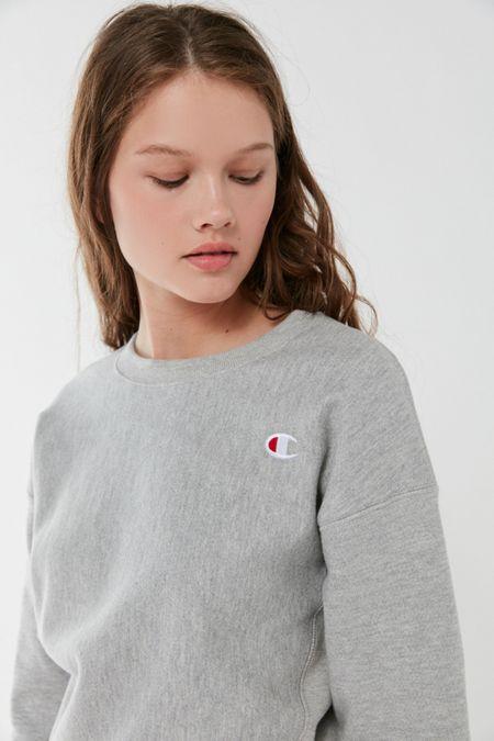 Champion Reverse Weave Logo Patch Sweatshirt 17e0abfbe