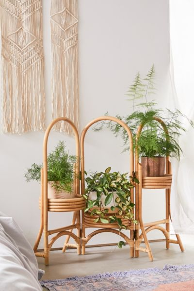 Rattan Plant Stand Urban Outfitters