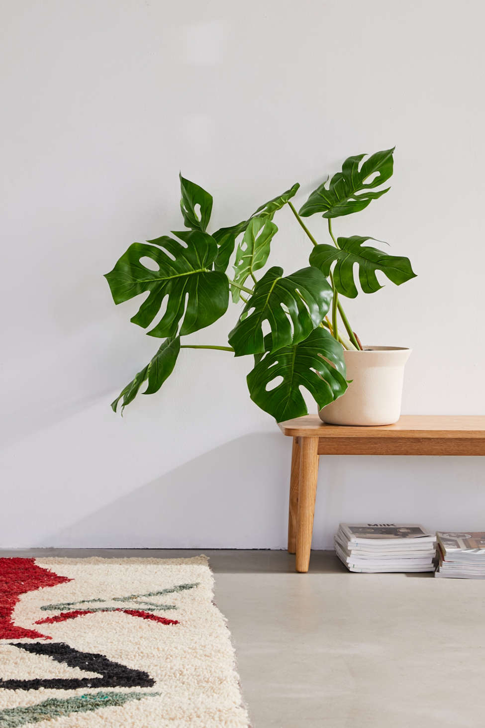 Slide View: 1: Potted Monstera 3â?? Faux Plant