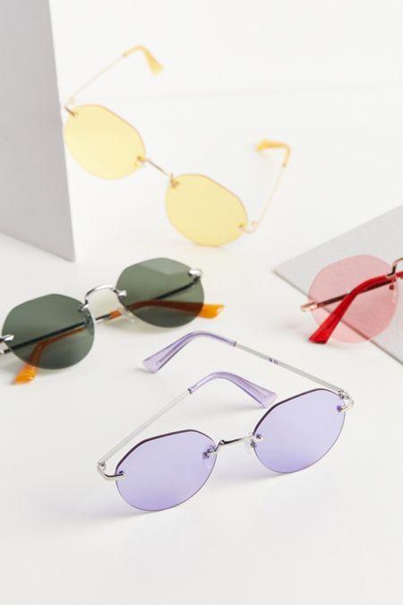 307f8f1042 Raven Rimless Hexagon Sunglasses