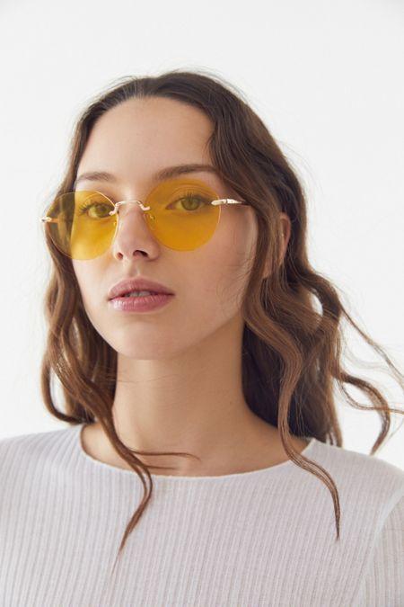 77e19517b76e9 Raven Rimless Hexagon Sunglasses