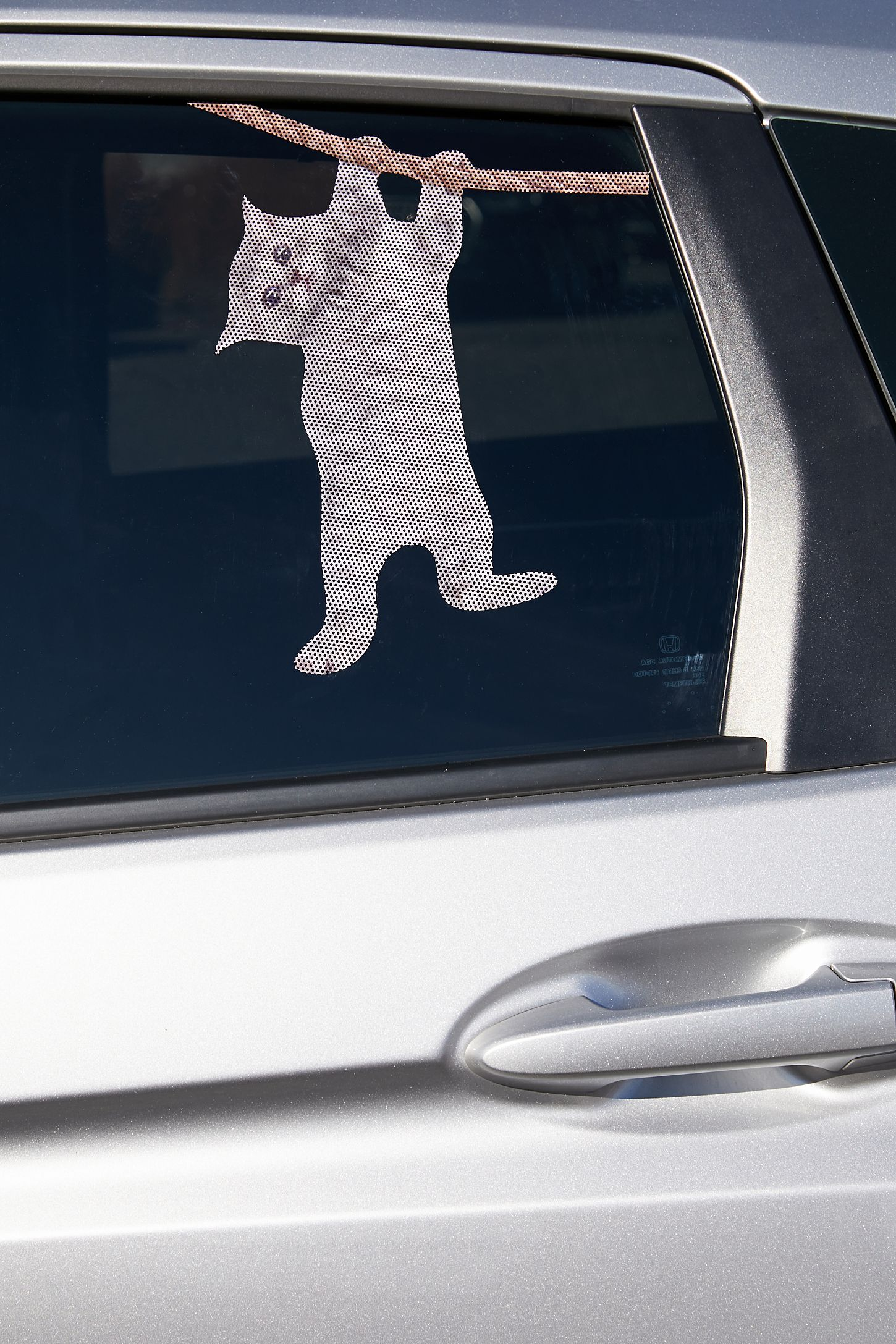 Slide view 2 cat car decal