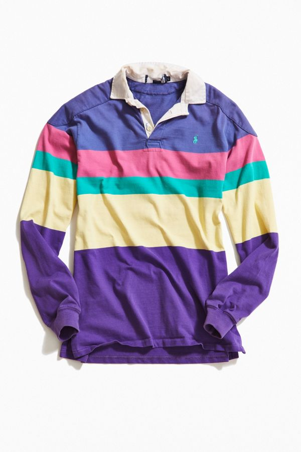 Lauren Polo Blocked Shirt Ralph Rugby Vintage Rainbow 1cKlFJT