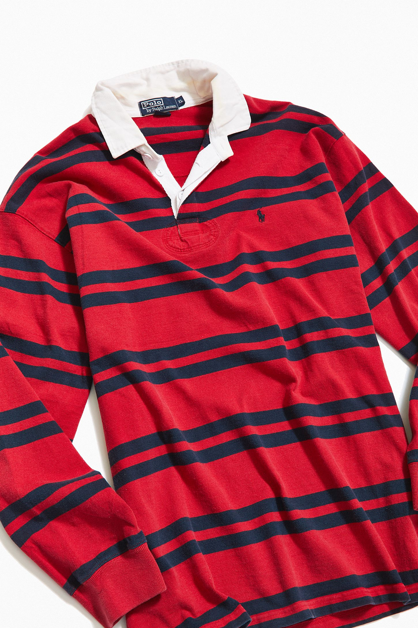 875764c717a Vintage Polo Ralph Lauren Multi-Stripe Rugby Shirt | Urban Outfitters