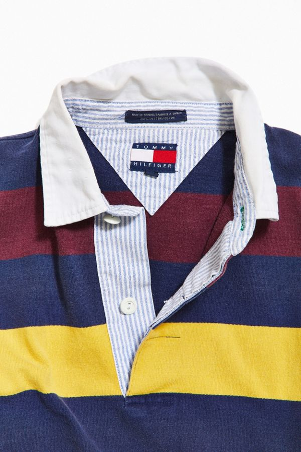 0fc1262f48 Vintage Tommy Hilfiger Striped Rugby Shirt | Urban Outfitters