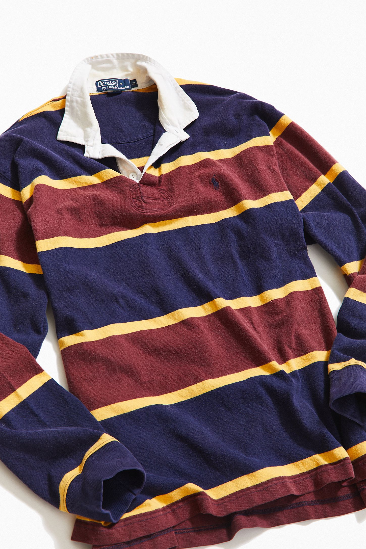 0e714250d1b Vintage Polo Ralph Lauren Blocked Stripe Rugby Shirt