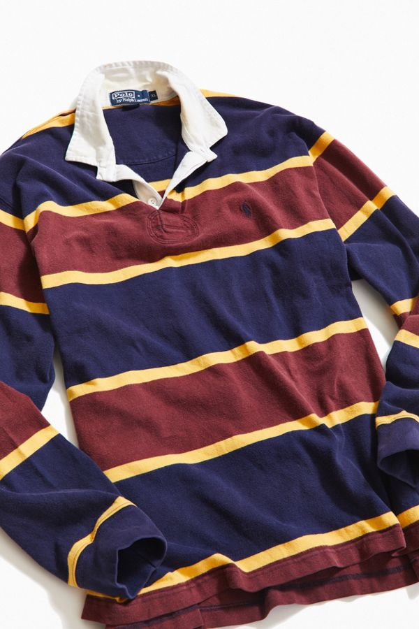 Vintage Polo Ralph Lauren Blocked Stripe Rugby Shirt
