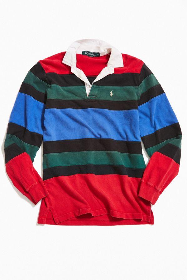 5573ca984c1 Vintage Polo Ralph Lauren Pieced Stripe Rugby Shirt