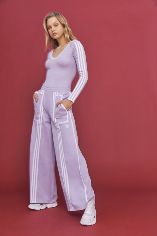 c6bb65a3a553 adidas Originals By Ji Won Choi 3-Stripes Wide Leg Track Pant ...