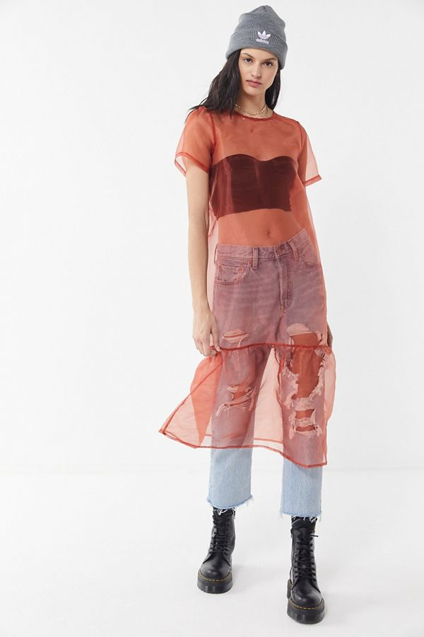 7c7d4cd50d1e Urban Renewal Remnants Organza Midi Dress | Urban Outfitters