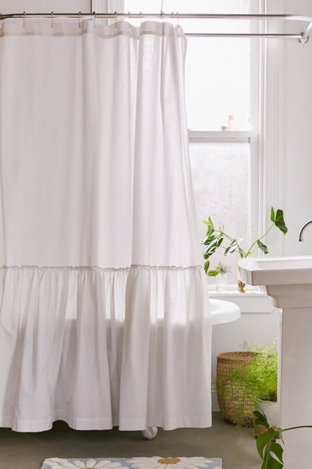 Overscale Ruffle Shower Curtain