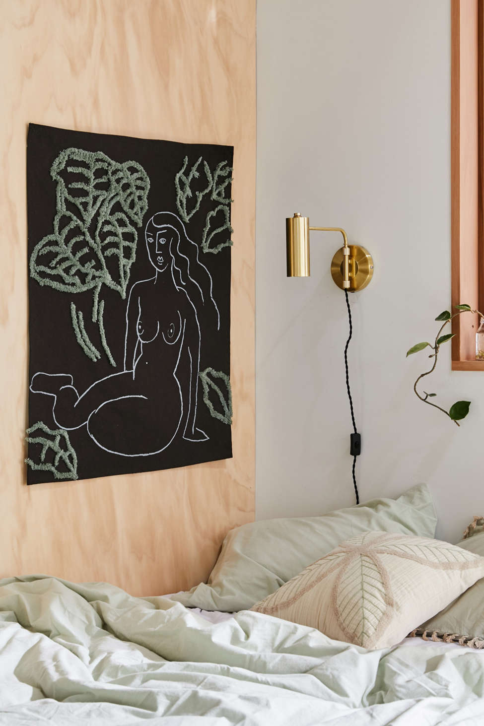 Figure Study Tufted Tapestry by Urban Outfitters
