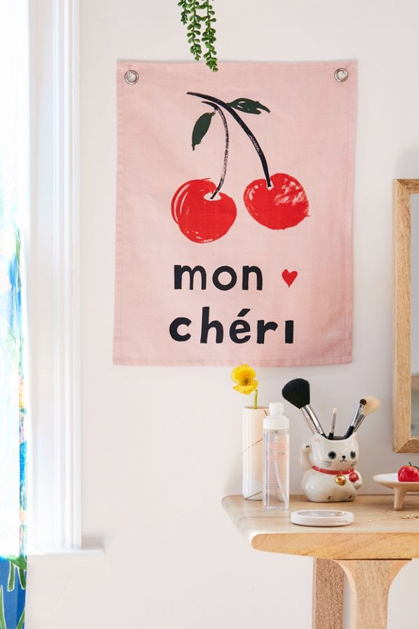 Mon Chéri Flag Tapestry Urban Outfitters