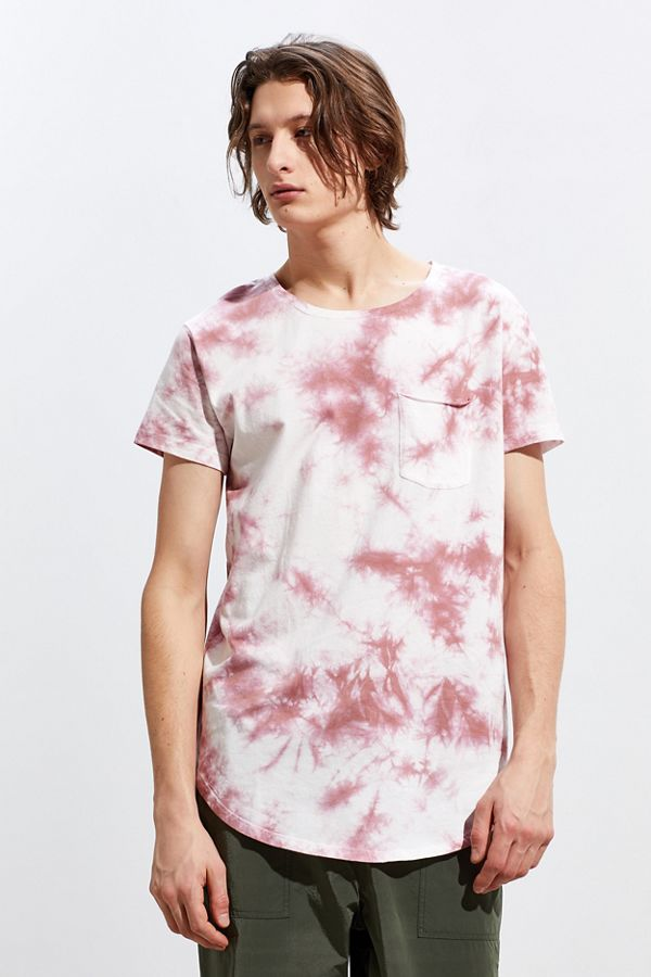 Slide View: 1: UO Washed Scoop Neck Curved Hem Tee