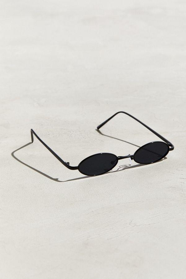 prix spécial pour double coupon super qualité Mini lunettes de soleil ovales et étroites en fil