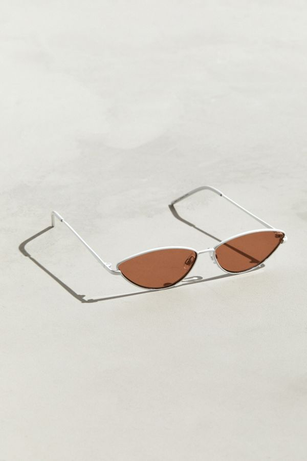 9b06a556f6 Slide View  1  Metal Cat-Eye Sunglasses