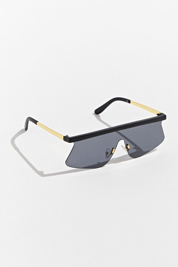 8d9b38bf7 Flat Brow Rimless Shield Sunglasses | Urban Outfitters
