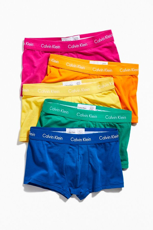 0a06d801d52c74 Calvin Klein Rainbow Low-Rise Boxer Brief 5-Pack | Urban Outfitters ...
