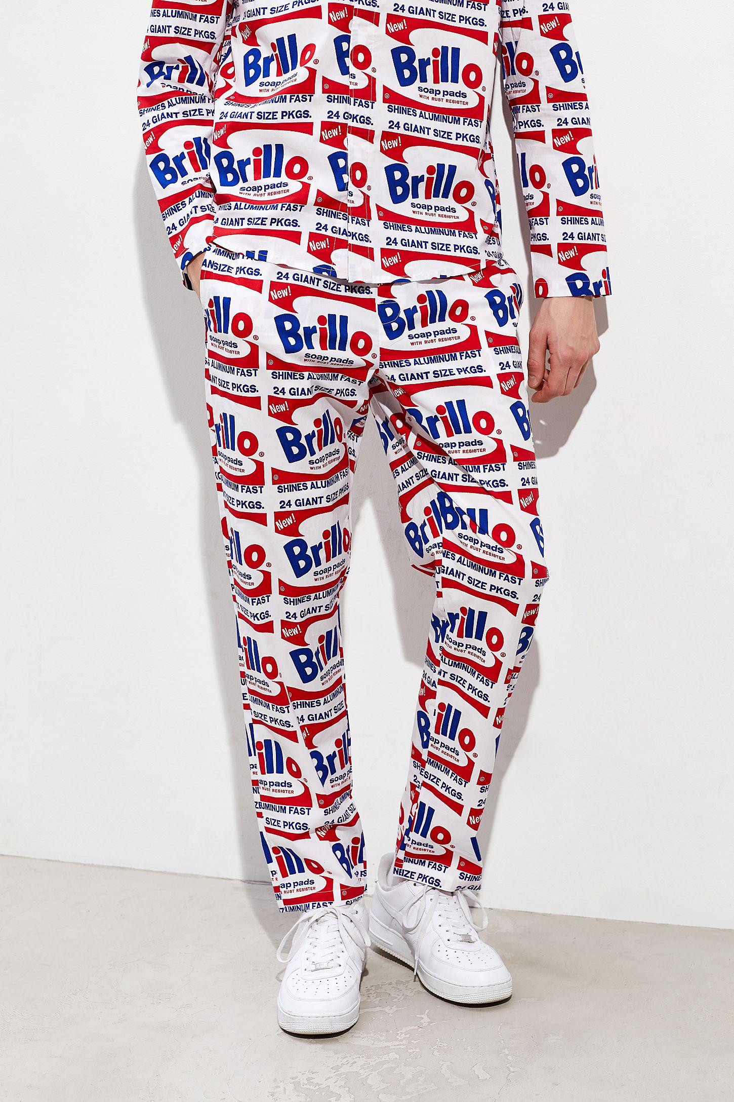am besten verkaufen verschiedene Farben Kostenloser Versand Calvin Klein X Andy Warhol Brillo Box Woven Pant