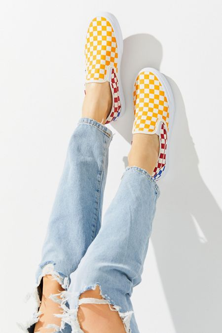 Vans Primary Checkerboard Slip-On Sneaker 07c235233