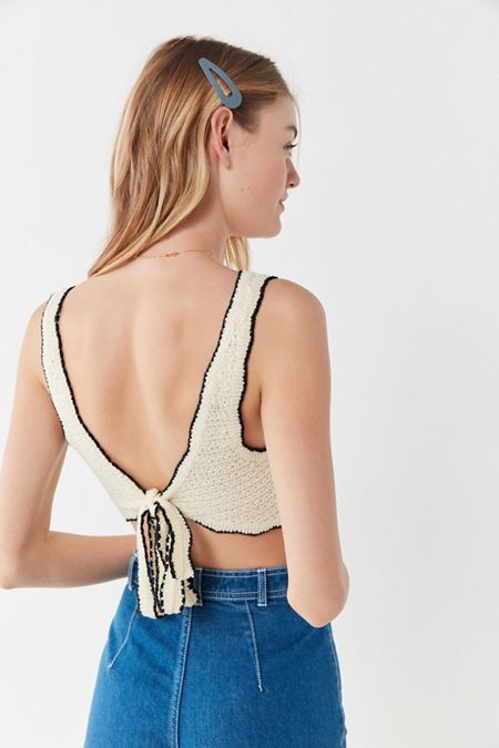 4acc8d3e27 UO Serendipity Scalloped Tie-Back Tank Top