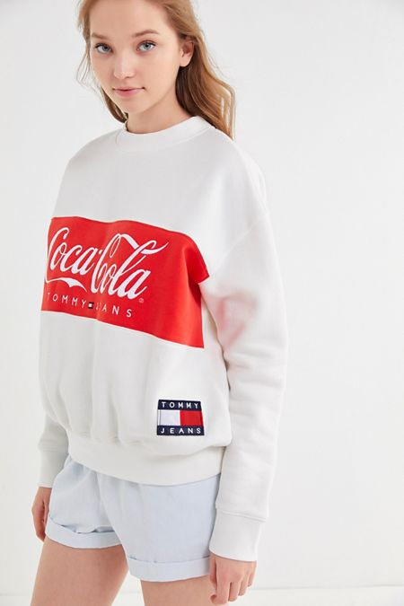 dc3ae42eecf Tommy Jeans X Coca-Cola UO Exclusive Colorblock Crew Neck Sweatshirt