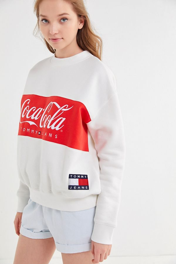 5393cdb3d75 Tommy Jeans X Coca-Cola UO Exclusive Colorblock Crew Neck Sweatshirt ...