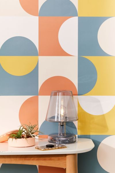 Picture of: Mid Century Geometric Removable Wallpaper Urban Outfitters