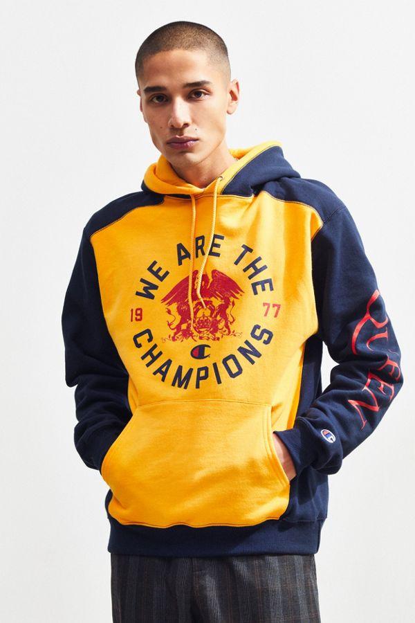 c45dcef52b71 Champion X Queen Colorblock Hoodie Sweatshirt