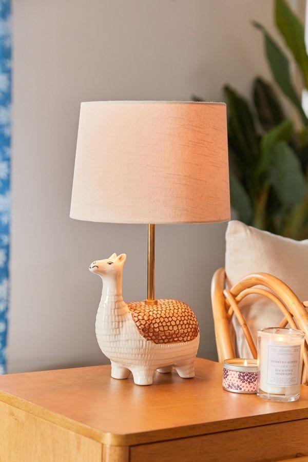 Slide View: 1: Llama Ceramic Table Lamp