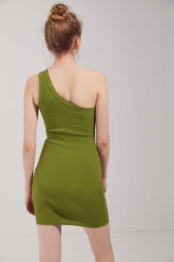 36e542f2096 Slide View  3  UO Jordan Ribbed One-Shoulder Mini Dress