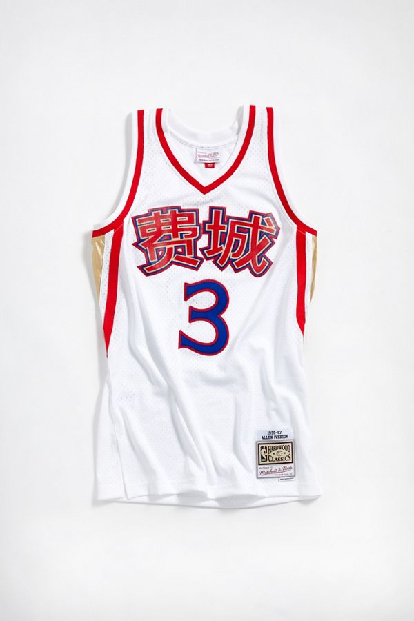 best service 95d87 02567 Mitchell   Ness Chinese New Year Philadelphia 76ers Allen Iverson ...