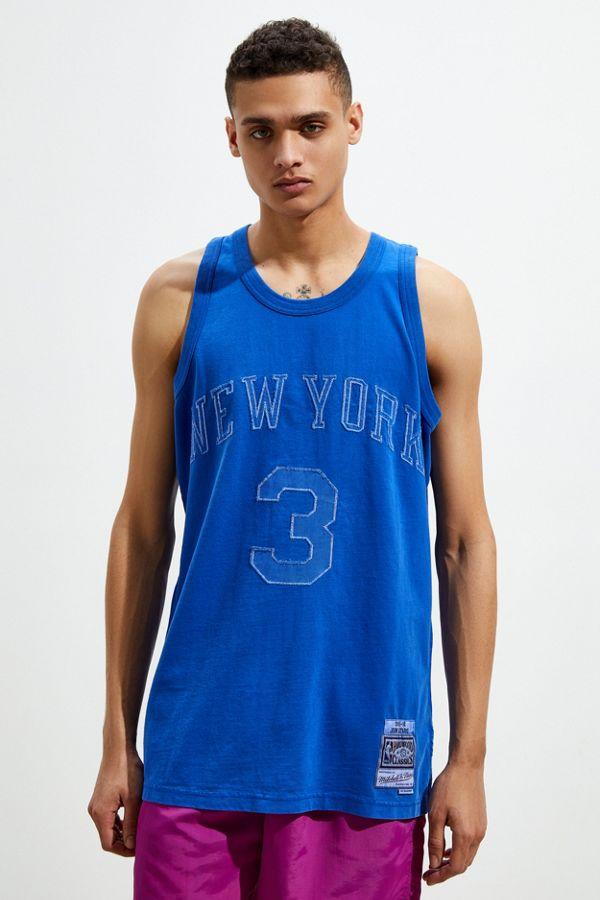 63411826a Mitchell & Ness New York Knicks John Starks Washed Out Basketball ...