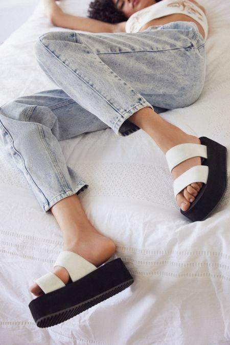0ea171f063d UO Ava Neoprene Platform Sandal