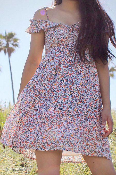 52c735f2343 UO Josephine Gauze Babydoll Mini Dress