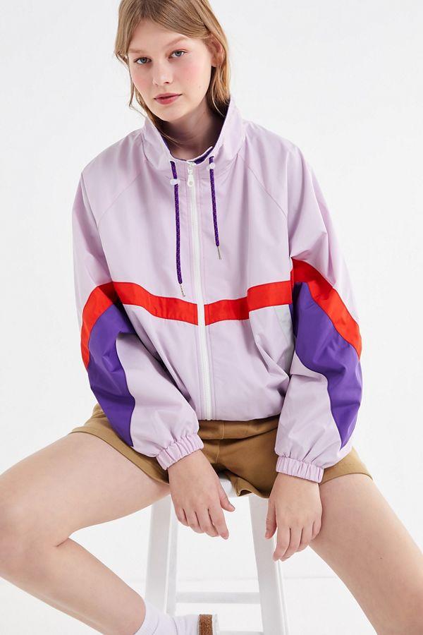 05ac41ada UO Destiny Colorblock Windbreaker Jacket | Urban Outfitters