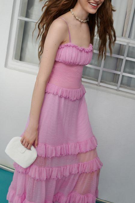 8d3e0054f5 UO Tampa Gauze Tiered Ruffle Maxi Dress