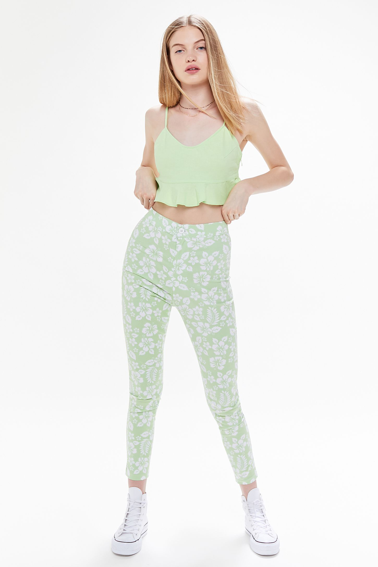 7efed1d7ffc240 UO Ingrid High-Rise Stretch Pinup Pant | Urban Outfitters