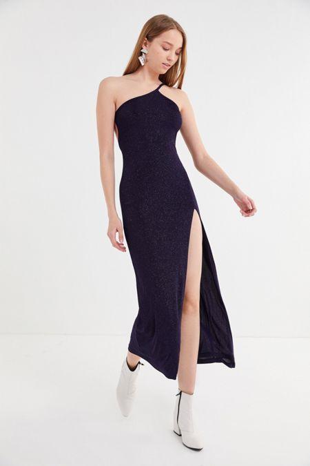 ab1e6f72b60 UO Taylor Glitter Strap Midi Dress