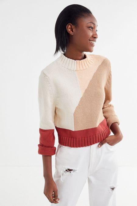 f679ca7606d Kordal Studio Vivienne Colorblock Mock Neck Sweater