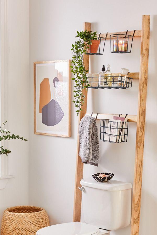luxury over the toilet wood storage rack