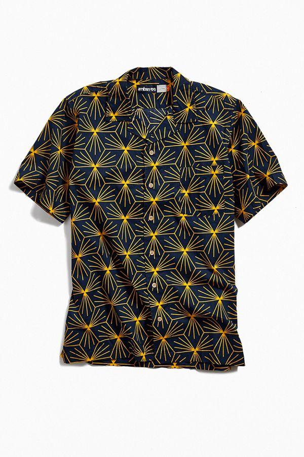 67365f11c991d Slide View  1  ambsn Starburst Short Sleeve Button-Down Shirt