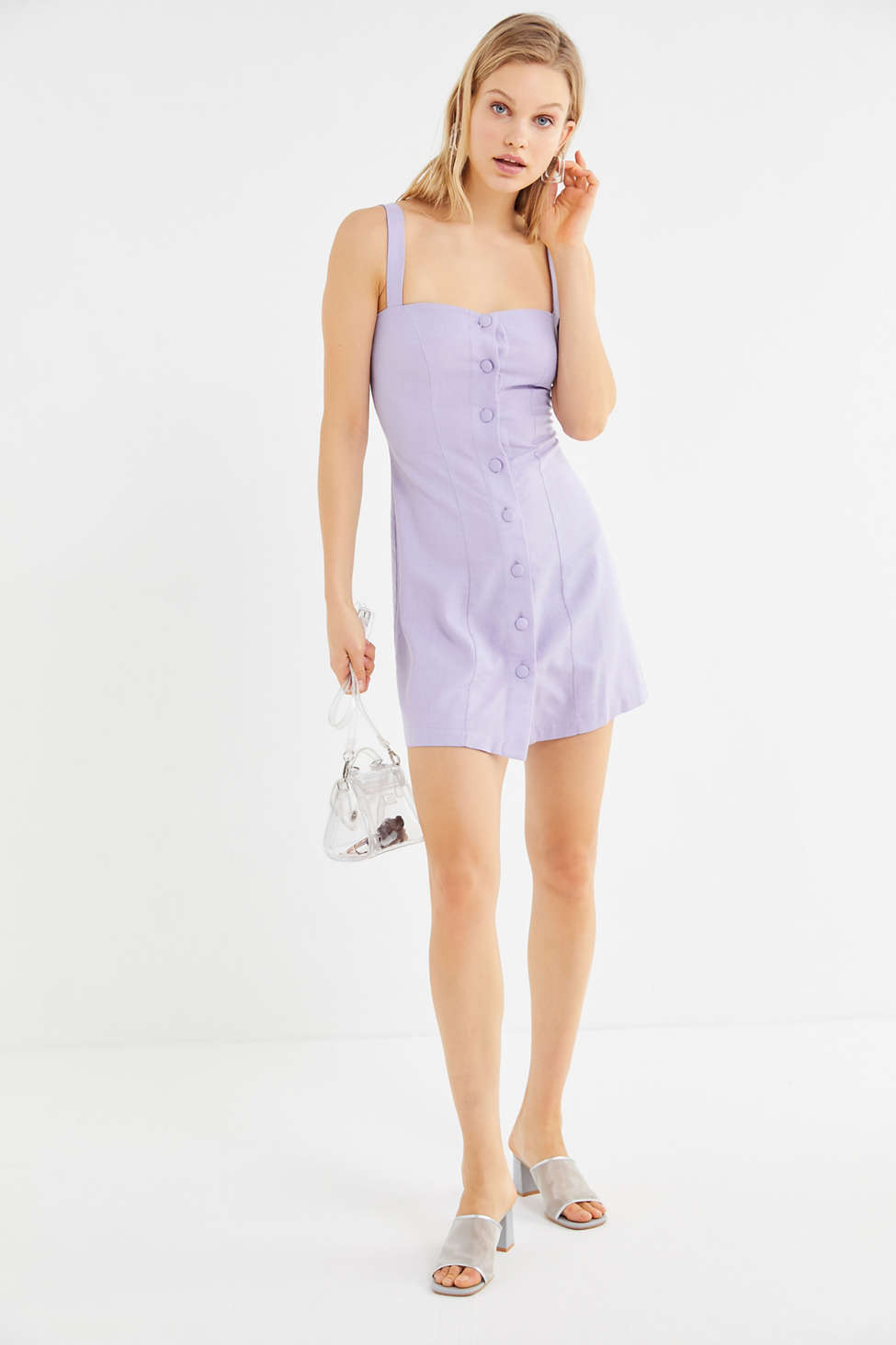 Rita Row Coco Button Front Mini Dress by Rita Row