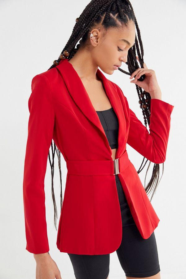 8e1e9d7e21878 I.AM.GIA Synopsis Belted Blazer   Urban Outfitters