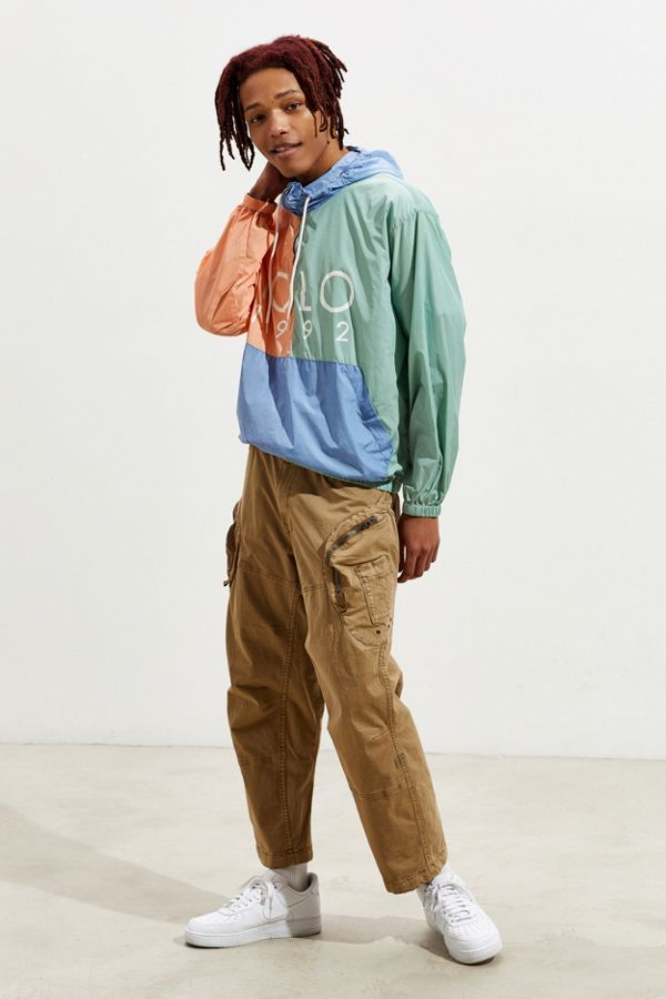 160b9d8f9266 Polo Ralph Lauren Nylon Colorblock Windbreaker Jacket | Urban Outfitters